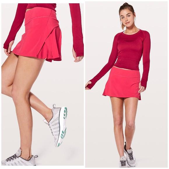 6a1bf3f28 lululemon athletica Skirts   Nwt Lululemon Play Off The Pleats Skirt ...